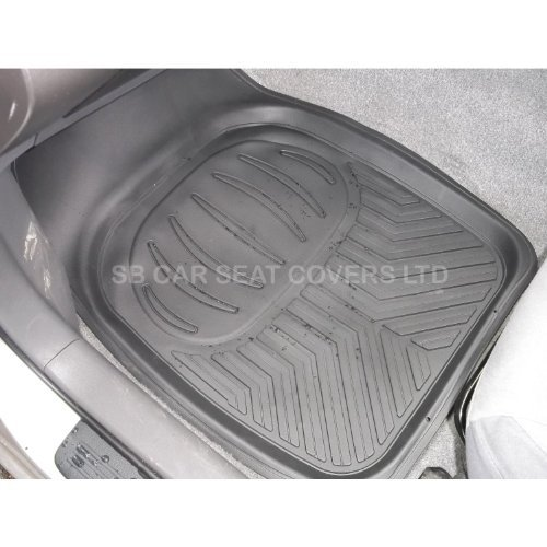 FORD C-MAX 2011-2013 TAILORED CAR FLOOR MATS CARPET BLACK MAT YELLOW TRIM