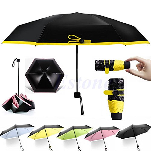 Compact Windproof Anti UV Rain Sun Parasol Korean Princess Folding Umbrella +Bag (Oakley Bracket 8 1 compare prices)