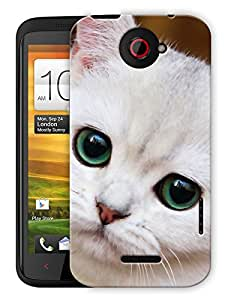 """Humor Gang Cute Kitty Face Printed Designer Mobile Back Cover For """"HTC ONE X"""" (3D, Matte, Premium Quality Snap On Case)"""