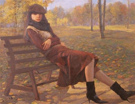 Oil Painting 'Portrait Of A Girl In The Park' Printing On Perfect Effect Canvas , 30x39 Inch / 76x99 Cm ,the Best Powder Room Decor And Home Gallery Art And Gifts Is This High Quality Art Decorative Prints On Canvas