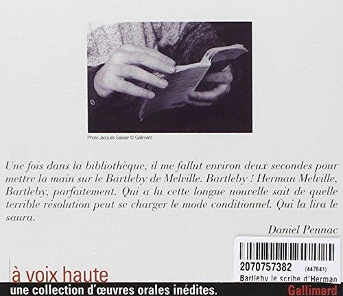 bartleby le scribe cd pennac daniel gallimard a voix haute