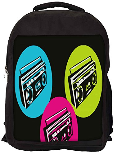 Snoogg Boombox Colourful Backpack Rucksack