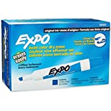 Expo Original Dry Erase Markers, Chisel Tip,Blue,1 Count ( Pack of 144 )