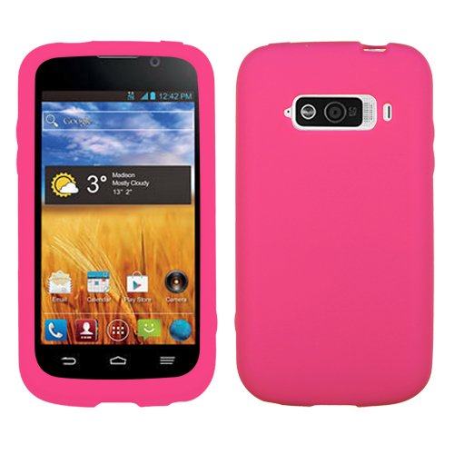 MyBat Solid Skin Cover for ZTE N9101 (Imperial) - Retail Packaging - Hot Pink (Zte Imperial N9101 compare prices)