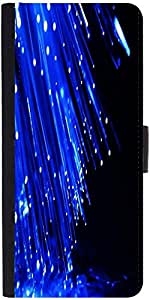 Snoogg Fiber Optics Designer Protective Phone Flip Case Cover For Desire 620G Dual Sim