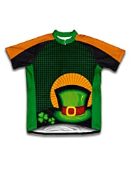 St. Patrick's Day Lucky Hat Short Sleeve Cycling Jersey for Women