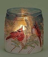 4.25″ Red Cardinal Winter Scene Textu…