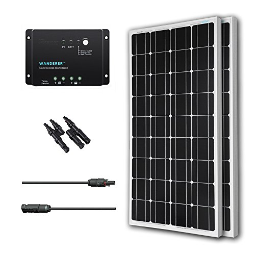 Renogy 200 Watts 12 Volts Monocrystalline Solar Bundle Kit