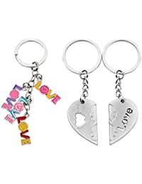 Atul's Gallery Multicolor And Silver Keychain (Pack Of 3) - B01FX8D34S