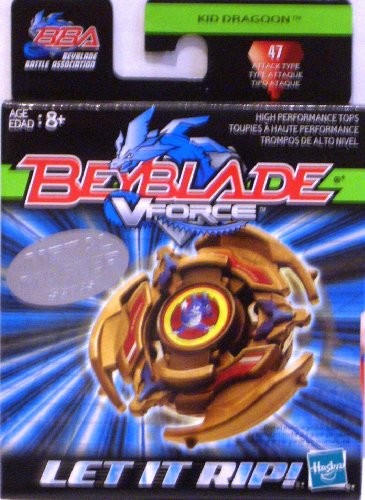 Beyblade American Hasbro Vforce Kid Dragoon 47 Attack Type Metal