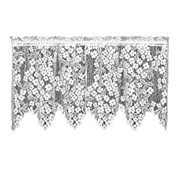 Heritage Lace Dogwood 55-Inch by 30-Inch Drop White Tier