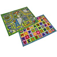JVL Childrens Kids Play mat nursery playroom 80 x 110cm