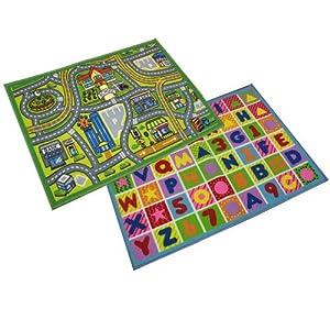 JVL Childrens Kids Play mat nursery playroom 80 x 110cm