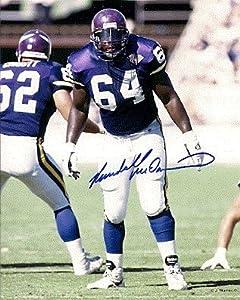 Autographed Hand Signed Randall Mcdaniel 8x10 Photo - Minnesota Vikings by Hall of Fame Memorabilia