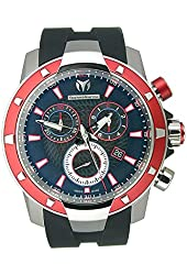TechnoMarine Men's 609022 UF6 Magnum Chrono Aluminum Red and Black Watch