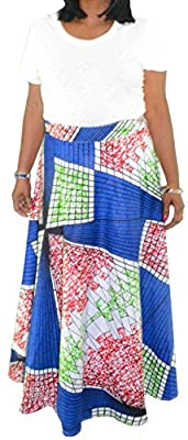 Fashion Island Womens Wrap Around Ankara AfricanMaxi Women Skirt