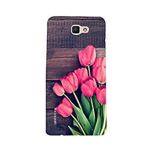 iSweven samj7P_1189 Printed high Quality Green_Leaf_and_red_rose Design Back case cover for Samsung Galaxy J7 Prime