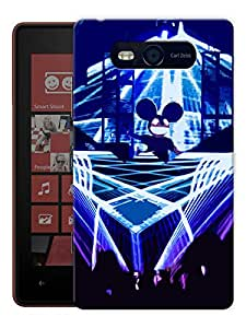 "Humor Gang Deadmau5 Concert Printed Designer Mobile Back Cover For ""Nokia Lumia 820"" (3D, Matte, Premium Quality Snap On Case)"