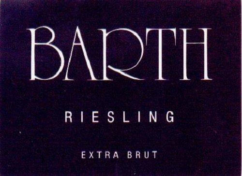Nv Barth Riesling Sekt, Extra Brut, Champagne Method 750 Ml