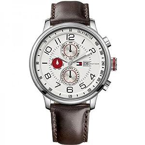 Tommy Hilfiger 1790858 - Reloj analógico de cuarzo para hombre con correa de piel, color marrón