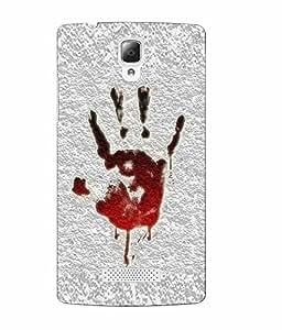 Make My Print Hand Printed Grey Soft Back Cover For Lenovo A2010