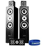 Skytronic 5.0 Black Surround Sound Speakers System Hi-Fi Home Theatre House Party DJ Setup 1150W