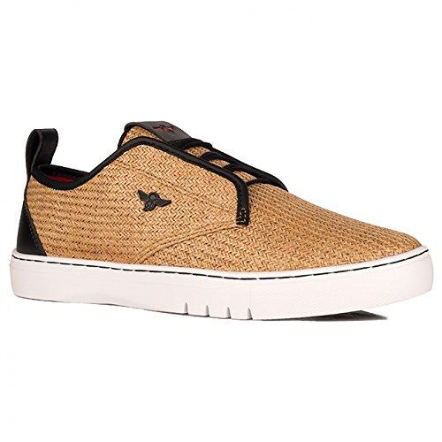 Creative Recreation Men's Lacava Q Fashion Sneaker, Tan Black Woven, 14 M US