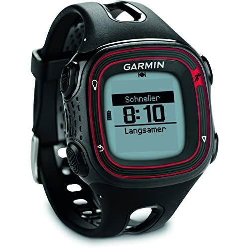 Garmin Forerunner 10 GPS Running Watch - Black Red