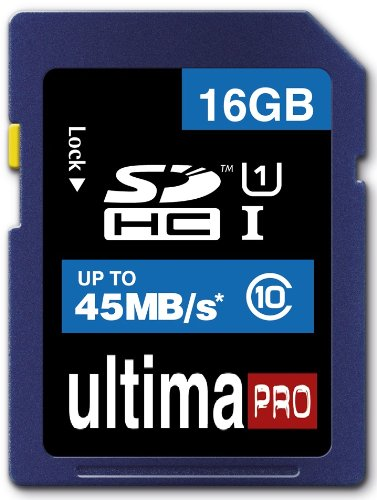 Memzi 16Gb Class 10 45Mb/S Ultima Pro Sdhc Memory Card For Bushnell Trail Natureview Series Digital Cameras
