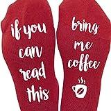 Ularmo 1 Paar Kreative Briefe:If You Can Read This, Damen und Herren die stricken Socken