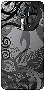 Snoogg Grey Abstract Designer Protective Back Case Cover For Asus Zenfone Sel...