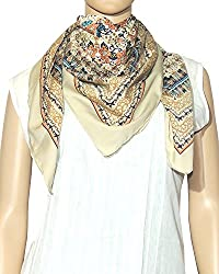 Indian Fashion Guru Navratri Special Sale - Multicolor Flower print stole,...