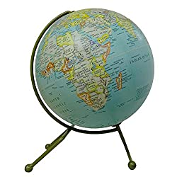 EnticeSelectionsUnique Design Desktop Rotating Globe Ocean World Geography Table Decor 10 Inch