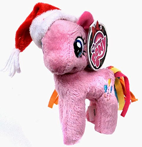 Plush Holiday Pinkie Pie with Santa Hat - 5in - 1