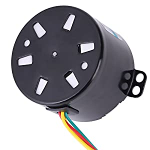 50KTYZ AC 220V 10W 0.5A Small Electric Low Speed Permanent Magnet Synchronous Motor CW/CCW 2.5/20RPM High Torque Metal Geared for Rotisserie Turntable (2.5 RMP) (Tamaño: 2.5 RMP)