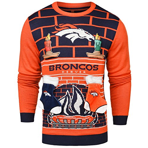 NFL Denver Broncos Ugly 3D Sweater