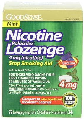 GoodSense Nicotine Lozenge (nicotine), Mint, 72-count, 3x24p