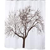 Sea Team Fabric Shower Curtain Liner, 70-inch by 72-inch, Brown Tree