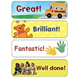 English reward stickers/labels for good behaviour, potty training, teacher's aidby 123 Web Art