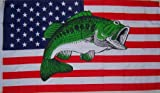 New 3X5 U.S. Usa Bass Fish Sport Fishing Flag