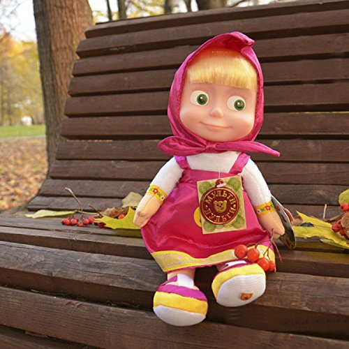 Soft toy Masha sings and talks11 inches, Masha and the bear toys, Masha y el oso, russian doll Masha best choice for birthday (Russian Bear Toy compare prices)