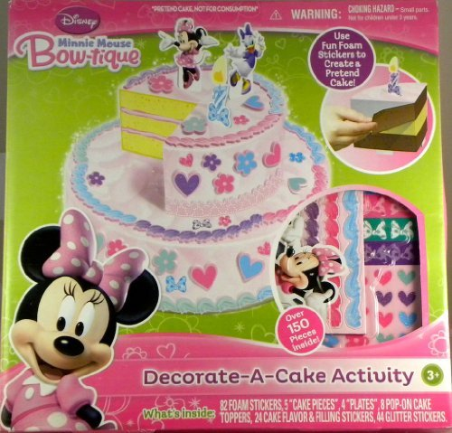 EZ Mosaics Decorate-A-Cake Activity - Minnie Mouse Bow-tique