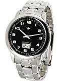 Elegante MARQUIS Herren Funkuhr (Junghans-Uhrwerk) Gehäuse und Armband aus Edelstahl 964.4001