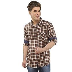 Attila Men's Casual Shirt (11065245C0_Blue Orange_40)