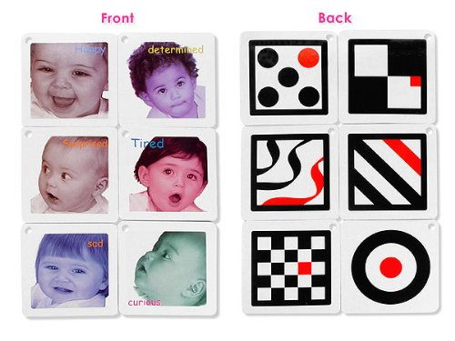 Black, White & Red Infant Stim Flashcards Set - 1