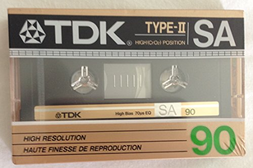 Learn More About Vintage Rare TDK Type II SA90 High Resolution High CrO2 Position 90 Minute Cassette