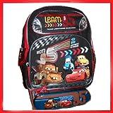Disney Cars 2 WGP Kids Backpack Bag Tote with BONUS Pencil Case Set