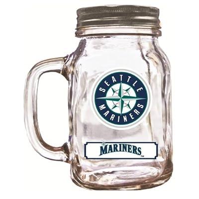 MLB Seattle Mariners Duckhouse 20 Ounce Mason Jar