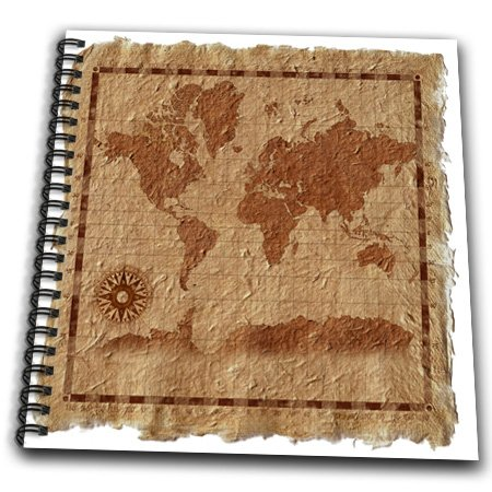 Db_18940_2 Dezine01 Graphics Vintage - Old Map On Paper - Drawing Book - Memory Book 12 X 12 Inch