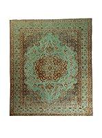 CarpeTrade Alfombra Deluxe Persian Vintage (Verde/Multicolor)